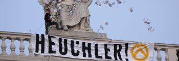 Heuchler-Aktion am Burgtheater