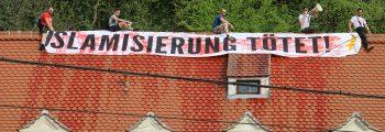 Besetzung der Grünenzentrale in Graz