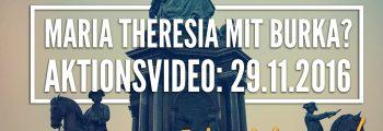 Verhüllung der Maria Theresia Statue